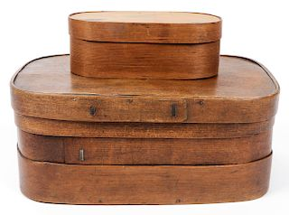 2 Antique Shaker Lidded Boxes