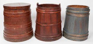 3 Antique Shaker Firkin/Buckets