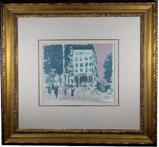 """""""Les Boulevards"""" Pierre Bonnard, Pencil Signed"""