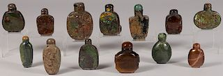 13 CHINESE SNUFF BOTTLES