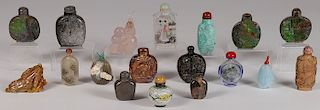 18 CHINESE SNUFF BOTTLES