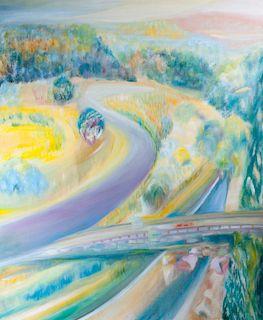 Margot Blank (Richmond, VA) Landscape Oil Ptg