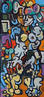 Keith Haring Style Abstract Expressionist Acrylic