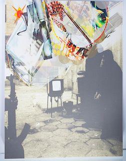 """Dennis Balk """"..Journalist Swipe.."""" Digital Canvas"""