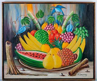Dieudonne Rouanez Still Life Oil Painting