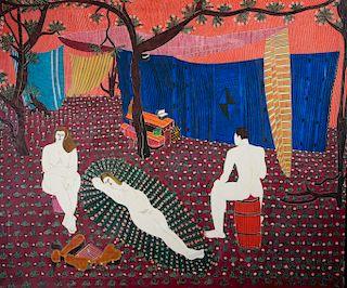 """Oronzo Gasparo """"Poets Meeting..Echo Canyon.."""" Oil"""
