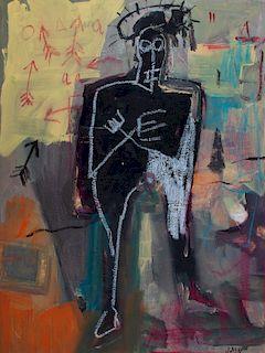 Jean-Michel Basquiat Mixed Media on Canvas