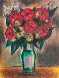 Odilon Redon Floral Still Life Pastel on Paper