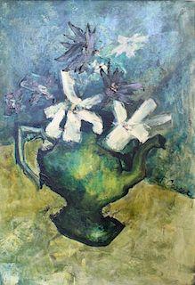 COOPER, Joanne. Oil on Canvas. Floral Still Life.