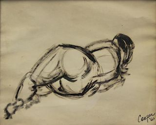 """COOPER, Joanne. Pen and Ink. """"Bold Strokes""""."""