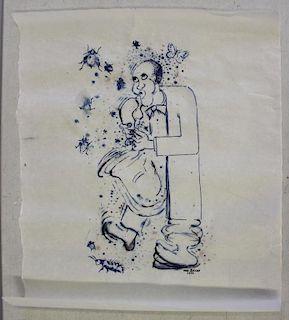BOLIGAN, John. Wash on Japanese Rice Paper.