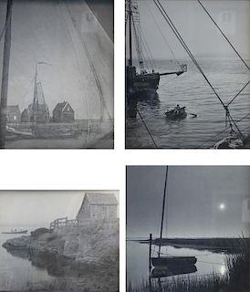FALK, Harvey A. Lot of 4 Photographs.