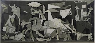 """After PICASSO. Offset Lithograph """"Guernica""""."""