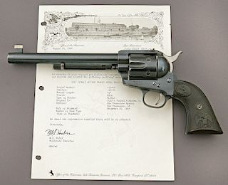 Rare Colt Single Action Army Frontier Six Shooter Flattop Target Revolver
