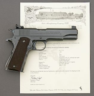 Rare Colt National Match Semi-Auto Pistol with Special Order Front Sight