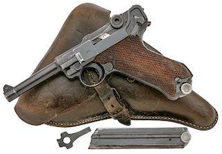 German P.08 Luger Code 42 Pistol by Mauser