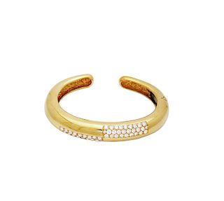 Estate David Webb 18k Yellow Gold approx 5TCW Diamond Cuff Bracelet