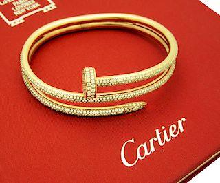 Cartier JUSTE UN CLOU BRACELET PINK GOLD with DIAMONDS