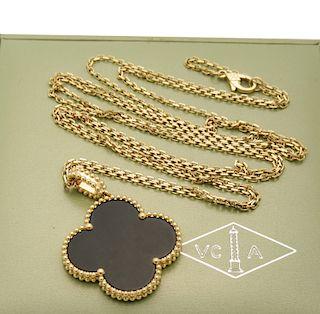 Van Cleef & Arpels Magic Alhambra Black Onyx long necklace, 1 motif