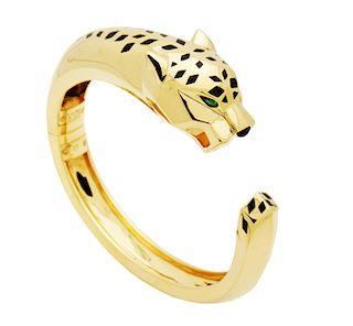 Cartier 18k Yellow Gold Panthere de Cartier Cuff Bracelet