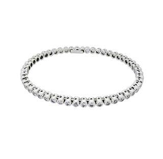 18k White Gold 3.00 TCW Diamond Bangle Bracelet