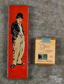 Charlie Chaplin tin pencil box