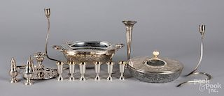 Weighted sterling silver and silver plate