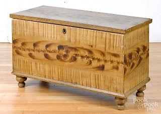 Pennsylvania painted pine blanket chest