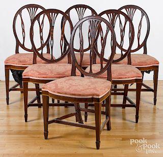 Hepplewhite shieldback dining chairs