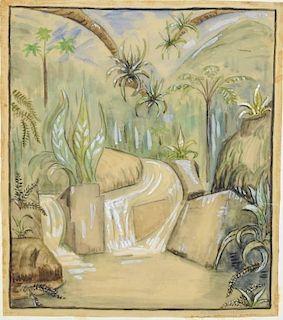 "Natalie Van Vleck ""Tropical Landscape"""
