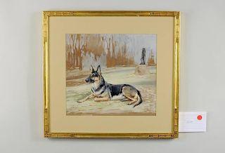 """Rueben Ward Binks """"Bodo"""" Watercolor"""