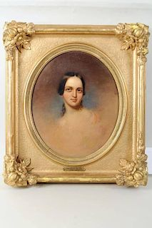 Portrait Of Woman Attributed to Thomas Sully