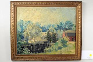 Connecticut Impressionistic Landscape O/B