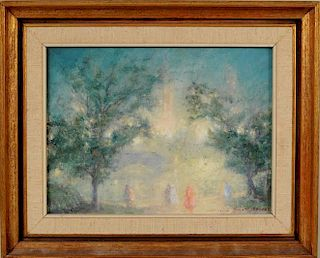 "Johann Berthelsen ""Nocturne"" (Central Park) O/C"