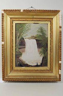 Primitive Painting of Minnehaha Falls O/C