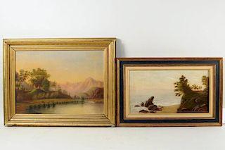 Two American Primitive School Paintings