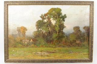 "Edward Loyal Field "" New England Landscape"" O/C"