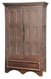 Southern Yellow Pine Two Door Wardrobe