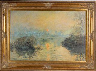 After Claude Monet (1840-1926) French Landscape