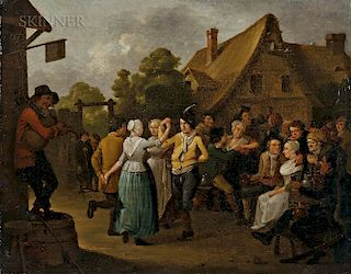 German School, 18th/19th Century  Merrymakers Before a Tavern