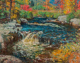 John Joseph Enneking (American, 1841-1916)  Trout Pond