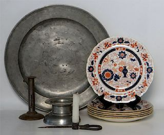 GROUP OF ACCESSORIES INC. PEWTER, MASONS