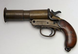 BRITISH FLARE GUN BY WEBLEY & SCOTT, LTD, LONDON