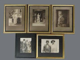 5 VANDERBUILT & WHITNEY FAMILY PHOTOGRAPHS AT THE