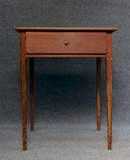 """TAPERED LEG ONE DRAWER STAND 27 3/4"""" X 23"""" X 23"""""""