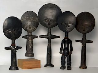 GROUP OF 5 GOLD COAST AFRICA FERTILITY FIGURES
