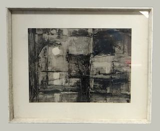 """LACQUER DRAWING """"REFLECTIONS"""" SGND STANLEY BATE"""
