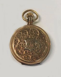 ILLINOIS 14KT YELLOW GOLD HUNTING CASE WATCH
