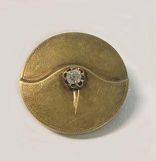 14KT  GOLD LOCKET PIN W/ APPROX. .5 CARAT DIAMOND