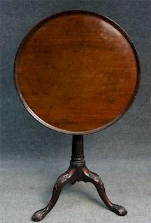 18THC. DISH TOP BIRD CAGE CANDLESTAND, STOP FLUTED